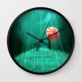 Rainy hill Wall Clock