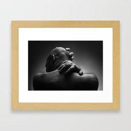 Brutal man portrait Framed Art Print