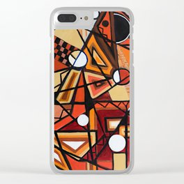 Geometric Composition Clear iPhone Case