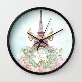 Paris, The City of Love Wall Clock