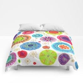 festive flowers Comforters