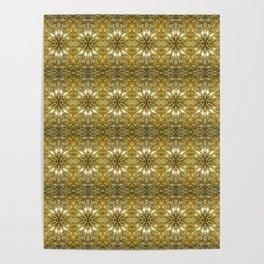 Golden Ornate Pattern Poster
