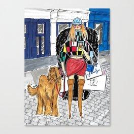 SoHo Girl – Original Fashion art, Fashion Illustration, Fashion wall art, Fashion painting, New York Canvas Print