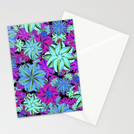Vibrant Floral Collage Stationery Cards