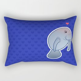 Manatee Love Rectangular Pillow