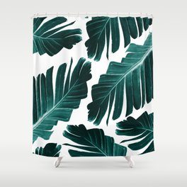 Tropical Banana Leaves Dream #1 #foliage #decor #art #society6 Shower Curtain