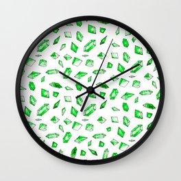 Emerald Print - You're A Gem Wall Clock