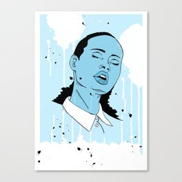 Woman in Blue Canvas Print