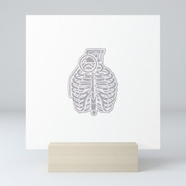 Grenade Ribcage Mini Art Print