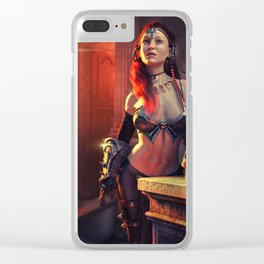 Mystical Lady Clear iPhone Case
