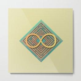 Infinite Maze Metal Print
