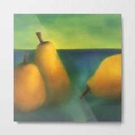 watercolor pears Metal Print
