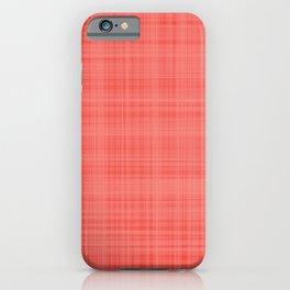 Living Coral Plaid_Tartan Pattern iPhone Case