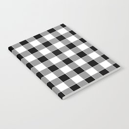 Buffalo Check - black / white Notebook