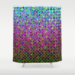 Polka Dot Sparkley Jewels G377 Shower Curtain