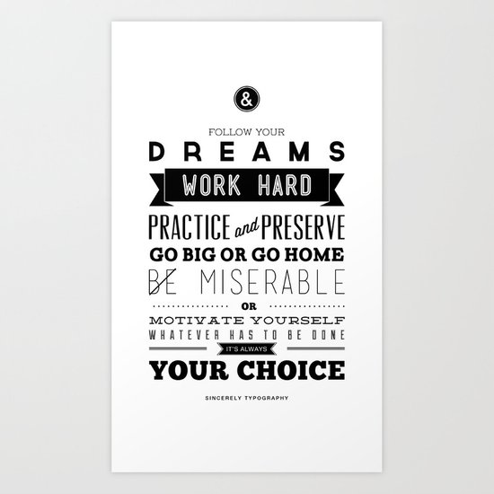 Sincerely Typography Art Print