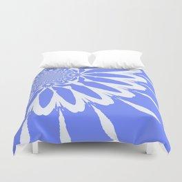 The Modern Flower Baby Blue & White Duvet Cover