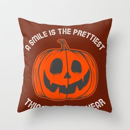 Happy Smile Smiling Happiness Pretty Face Laughing Throw Pillow