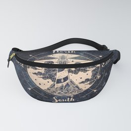 Compass World Star Map Fanny Pack