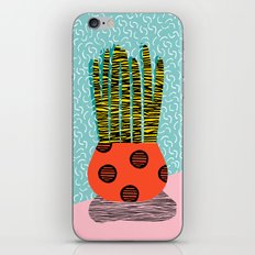 Amped - throwback vintage retro art print memphis style period hipster colorful bright pop art funny iPhone & iPod Skin