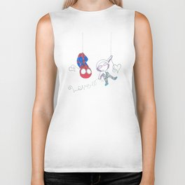 Spider heroes in love Biker Tank