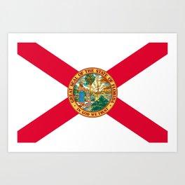 Flag of Florida Art Print