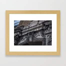 Apartment architecture close up Framed Art Print