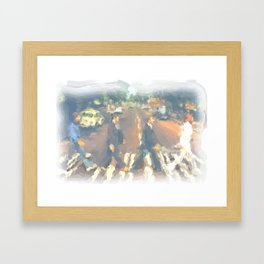John, Paul, George, Ringo Framed Art Print