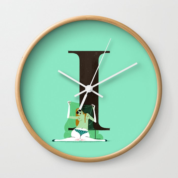 Isabelle Times New Roman Wall Clock By Chicksandtype Society6