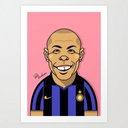 Ronaldo, Inter Milan Art Print