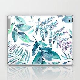 Teal manic botanic Laptop & iPad Skin