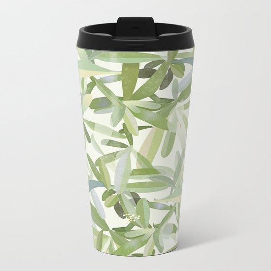 Fantasia foglie Metal Travel Mug