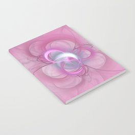 Pink Abstract Fractal on Pink Notebook