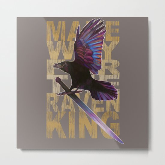 The Messenger/ Raven Cycle Metal Print