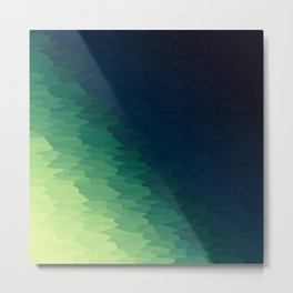 Blue Green Ombre Metal Print