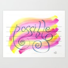 Possible Melody Art Print