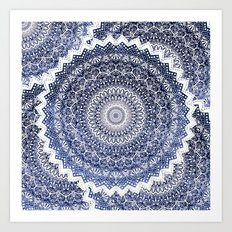 COLD WINTER MANDALAS Art Print