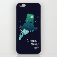 maine iPhone & iPod Skins featuring Almost, Maine by Typo Negative