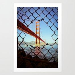 Golden Gate Bridge - SF. Art Print