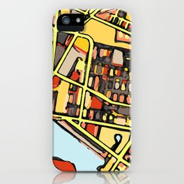 Abstract Map East Cambridge iPhone Case