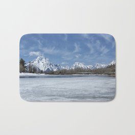 Grand Tetons and Snake River from Oxbow Bend Bath Mat