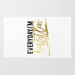 "GOLD FOIL PRINT ""Everyday im hustlin"" print motivational typography poster printable quote office de Rug"