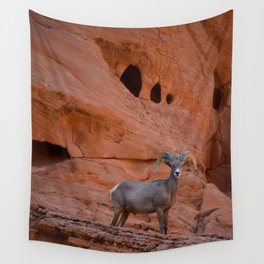 Desert Bighorn - Valley of Fire Wall Tapestry