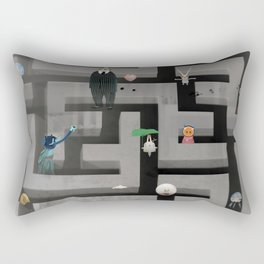 Time in the labyrinth and the Hare Rectangular Pillow