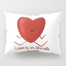 Love is in the air Heart hand drawn heart shaped picture Pillow Sham