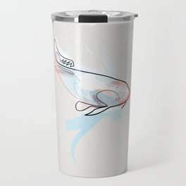 One line Koi Fish Travel Mug