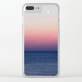 Indigo Horizon Clear iPhone Case