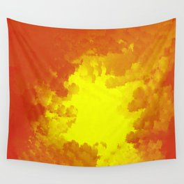 Sun Coming Through The Clouds Wall Tapestry