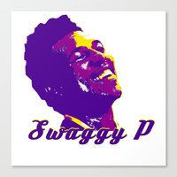 lakers Canvas Prints featuring Swaggy by SUNNY Design