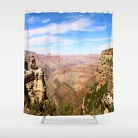 pacific rim Shower Curtains featuring South Rim Grand Canyon by Christiane W. Schulze Art and Photograph
